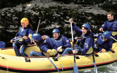 Rafting in adrenalinski park