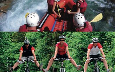 Rafting in kolesarjenje s prenočitvijo